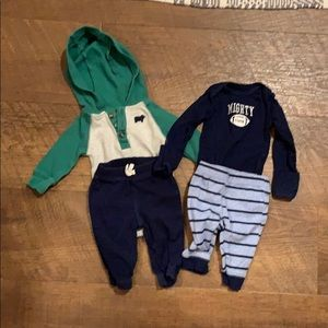 Two piece Carter's outfits